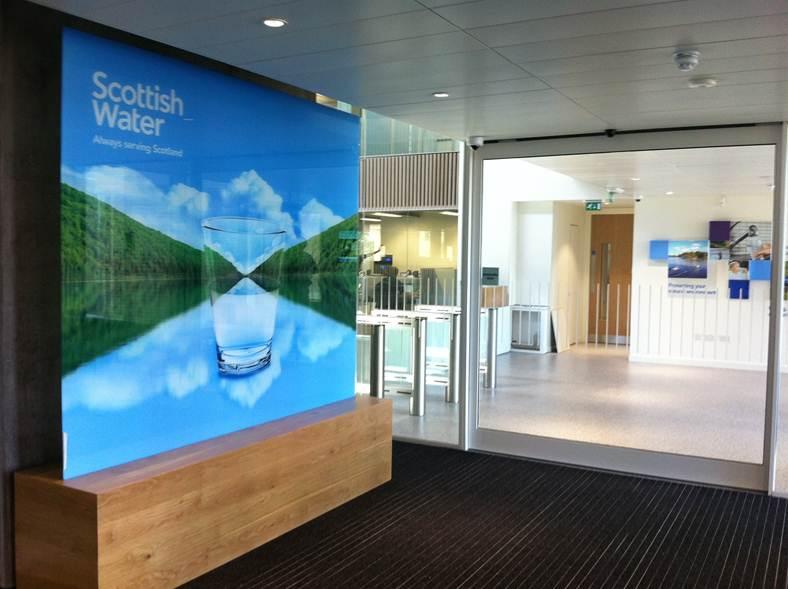 Scottish Water Sign