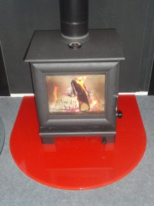 red glass hearth